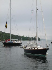 Destiny Moored at Nova Scotia Yacht Squadron