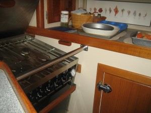The cooktop is level. . .really!