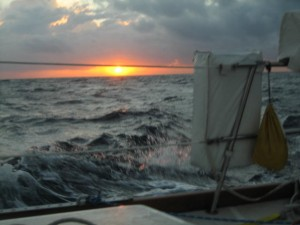 Sunrise Day 2 brings heavy seas