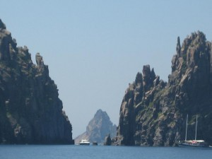 Rock formations in Aeolian Islands