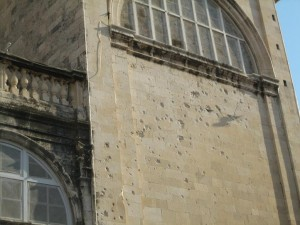 Bullet Damage to Church