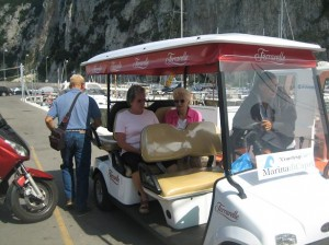 Courtesy Cart at Marina in Capri