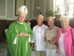 Kent, Carol & Jan with Arch Bishop of Amalfi