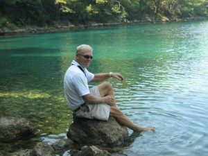 Kent Cools off at Mjlet Nat'l Park
