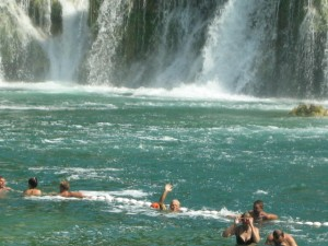 Kent Swims the Krka Falls