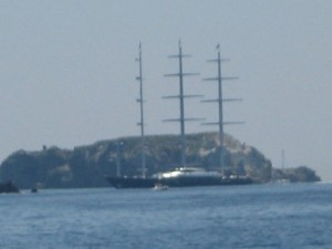 Maltese Falcon in Aeolian Islands