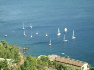 Mooring field at Taormina