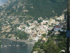 Positano view from Bus