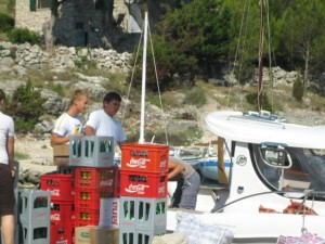 Provisions arrive at Lojena