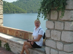 Relaxing at Monastery, Mljet