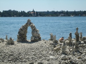 Rovinj Beach Sculptures
