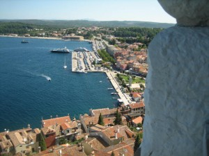 Rovinj Commercial Wharf from bell tower