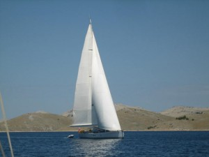 Sailing through Kornati Islands