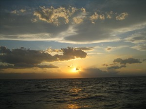 Sunset on 200 NM Passage