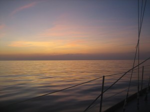 Dawn Breaks on Way to Straits