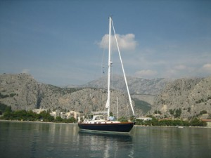 Destiny Anchored off Omis