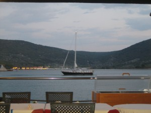 Destiny at Anchor in Cres