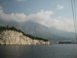 Makarska is Dwarfed by the Mountains around it