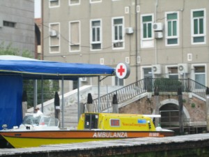 Water Ambulance at Ospedale