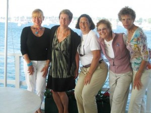 2008 BWSC Women's Cruise Capts.--Carol, Bernie, Kem, Sue & Cecily