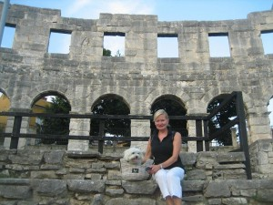I visited a Roman Coloseum in Pula