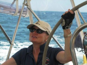 Carol at wheel--I think I've got it!
