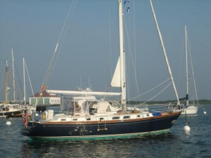 Destiny Moored in Cuttyhunk
