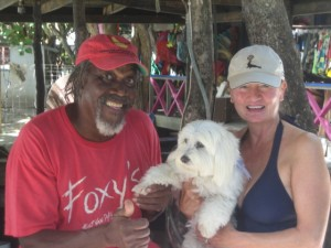 Foxy himself greeted me at his bar in Jost Van Dyke