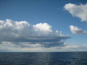 Clouds Reflect in Sea