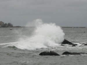Immense power is released by the waves