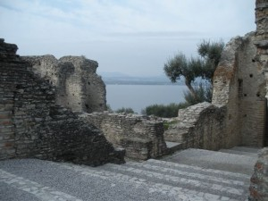 Ruins overlook sweeping views of Lake Garda