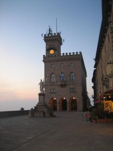 San Marino Square is site of changing of guard in summer months