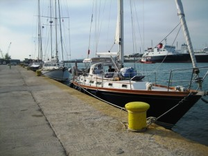 Berthed at Corinth with Excalibur & Glass Slipper
