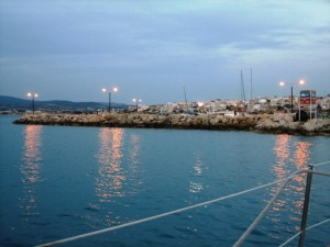 Dusk at Port of Corinth