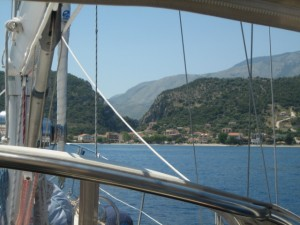 Lunch stop off Poros