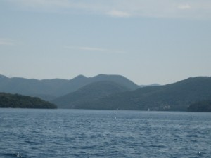 Strait between Levkas & Meganisi--islands everywhere