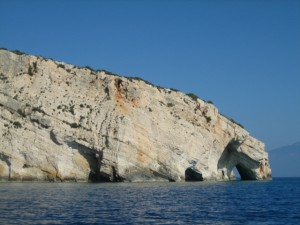 From a distance the Blue Caves are just rock