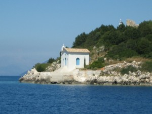 Ubiquitous Greek Chapel on way to Vathi