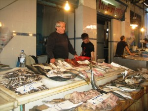Aigina Fish Market--swordfish for dinner!