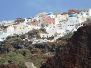 Cave houses built into side of hill