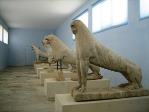 Delos Lions now repose in the museum