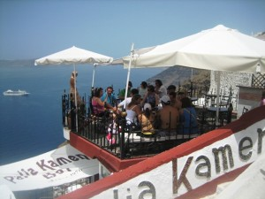 Fira Cafe--See and be Seen