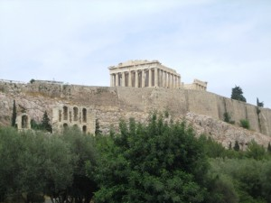 Long way up to Parthenon