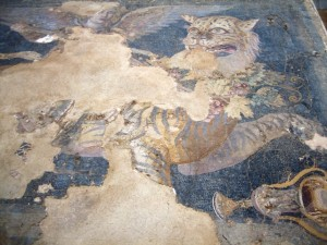 Some mosaics have tiles so tiny they look like paintings