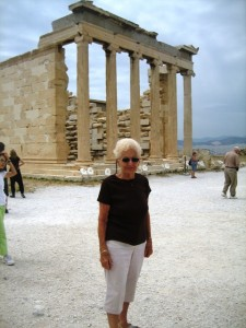 Mom at the Acropolis