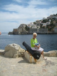 Mom relaxes in Hydra