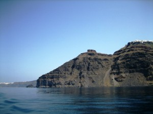 Rim of the caldera rises to nearly 1,000 ft. in places