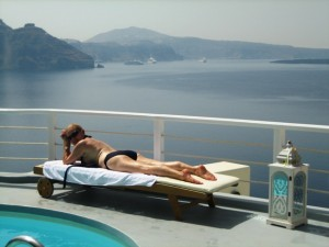 This is the life. . .not to mention the view!