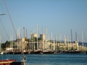 Castle is backdrop for Bodrum Milta Marina