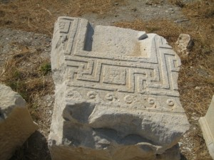 Greek key is a reminder that Knidos was not always Turkish
